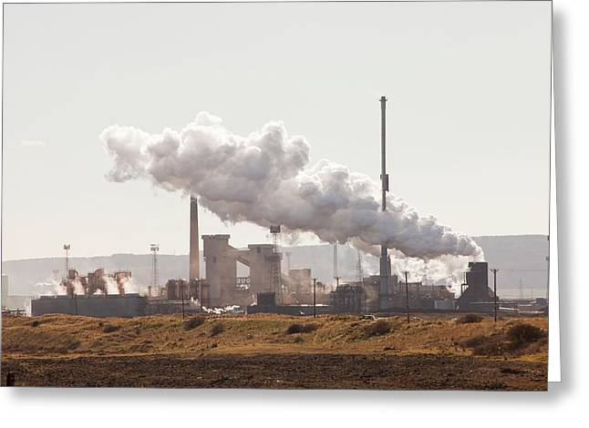 Redcar Steel Works Greeting Card by Ashley Cooper