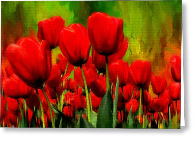 Reddened By Passion Greeting Card