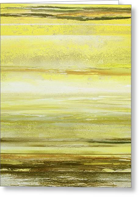 Redesdale Rhythms And  Textures Yellow And Sepia Greeting Card
