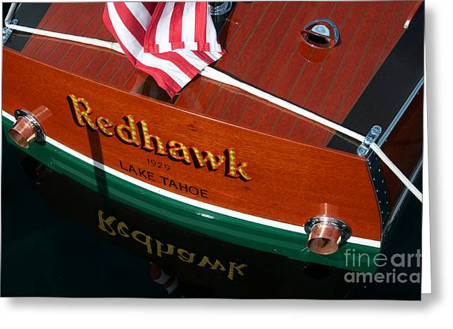 Greeting Card featuring the photograph Redhawk by Vinnie Oakes