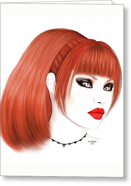 Redhead Cassia Greeting Card
