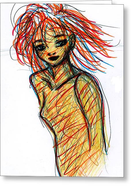 Redhead I Greeting Card by Rachel Scott