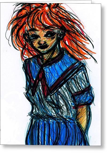 Redhead II Greeting Card