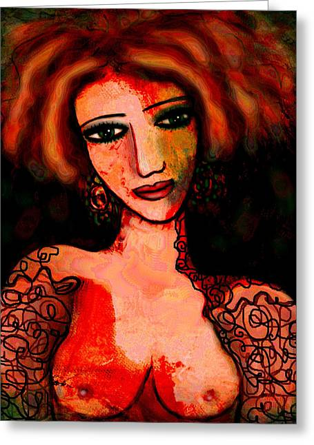 Redhead Greeting Card by Natalie Holland