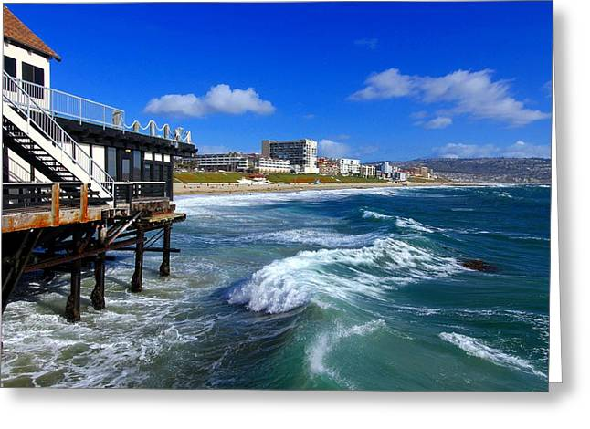Redondo Pier - Mike Hope Greeting Card