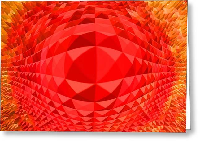 Pyramids Greeting Card by Ramon Labusch