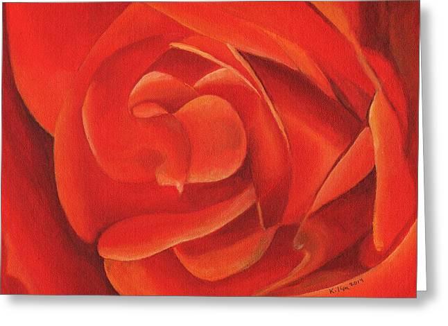 Redrose14-1 Greeting Card
