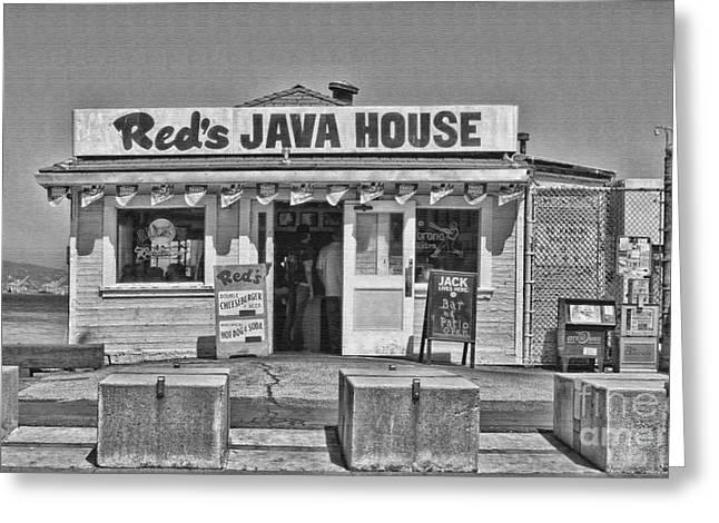 Red's Java House San Francisco By Diana Sainz Greeting Card