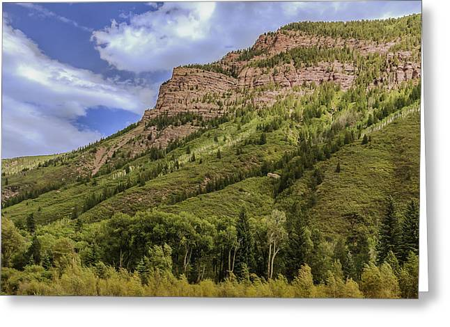 Redstone Cliffs At Redstone Colorado Greeting Card