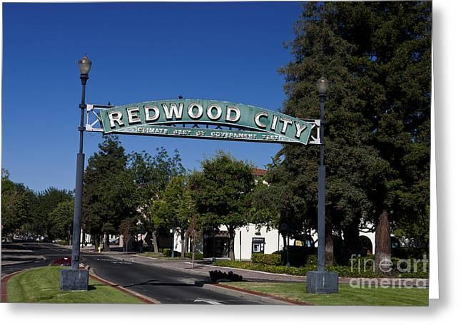 Redwood City California Greeting Card