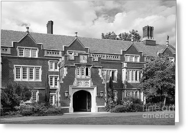 Reed College Old Dorm Block Greeting Card by University Icons