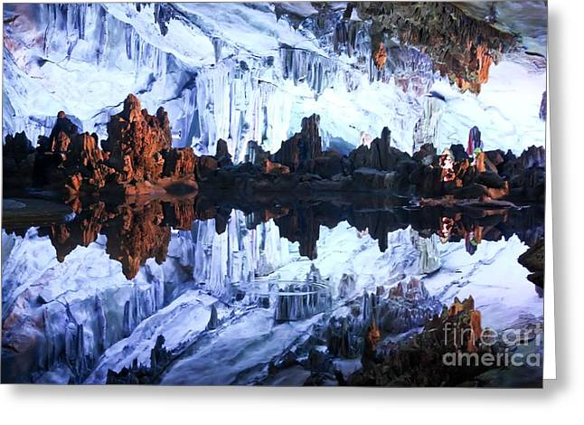 Reed Flute Cave Guillin China Greeting Card by Thomas Marchessault