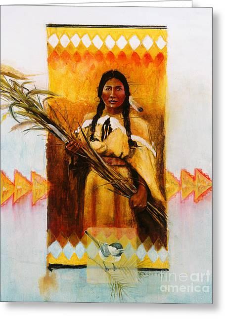 Reed Gatherer Greeting Card