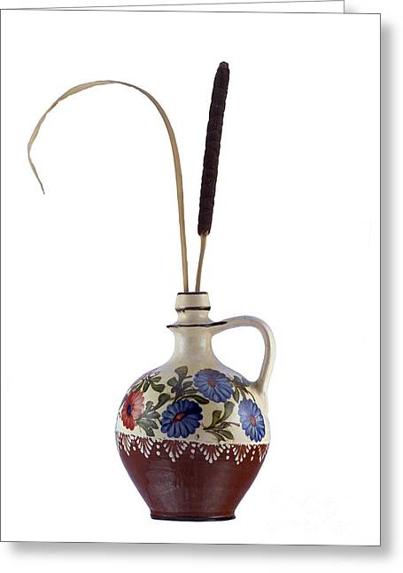 Reed In The Vase Greeting Card