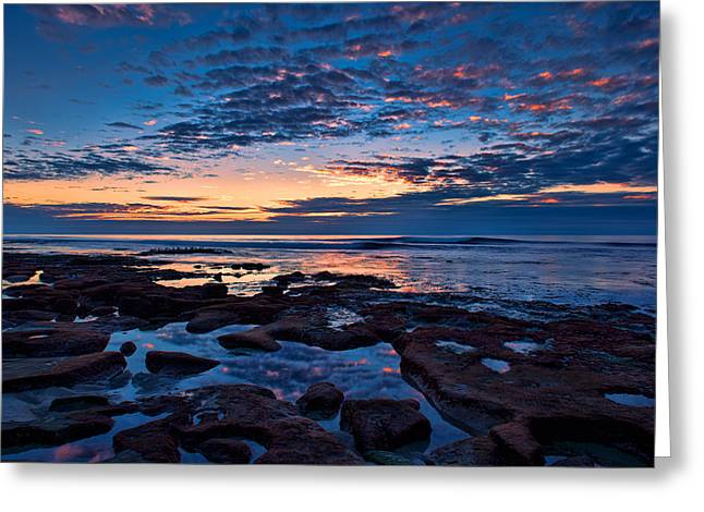 Reef Pool Sunset Reflections Greeting Card
