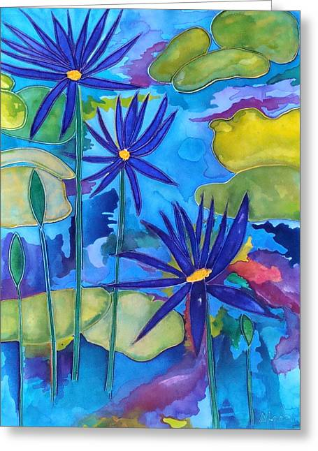 Refections Of Colour Greeting Card by Antoinette  Andersen