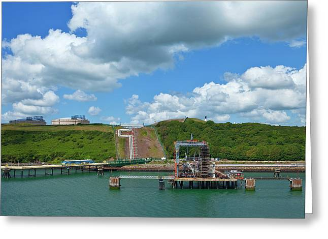 Refinary Pipeline In Milford Haven Greeting Card by Panoramic Images