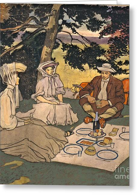 Refined Picnic 1904 Greeting Card by Padre Art