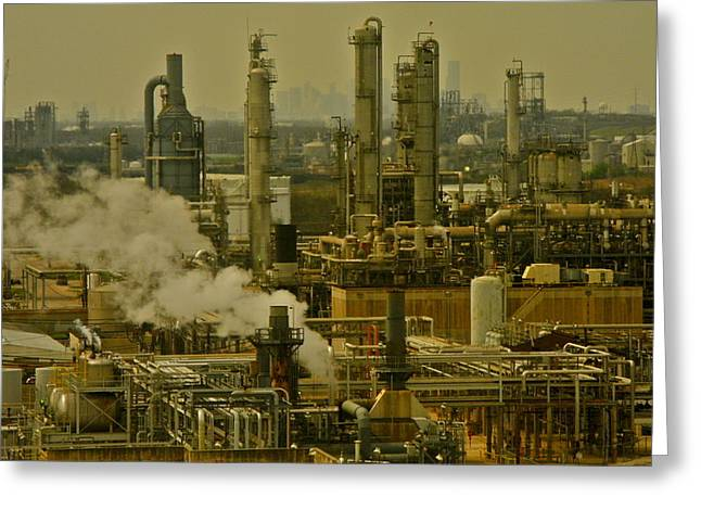 Refineries In Houston Texas Greeting Card by Kirsten Giving