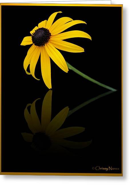 Reflect Greeting Card by Christine Nunes