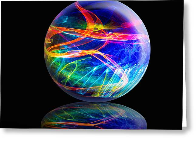 Reflected Flame Globe Greeting Card