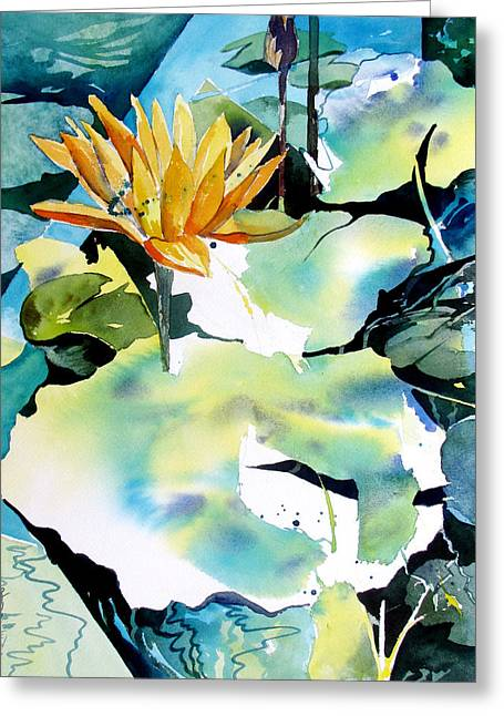 Reflected Magic Greeting Card by Rae Andrews
