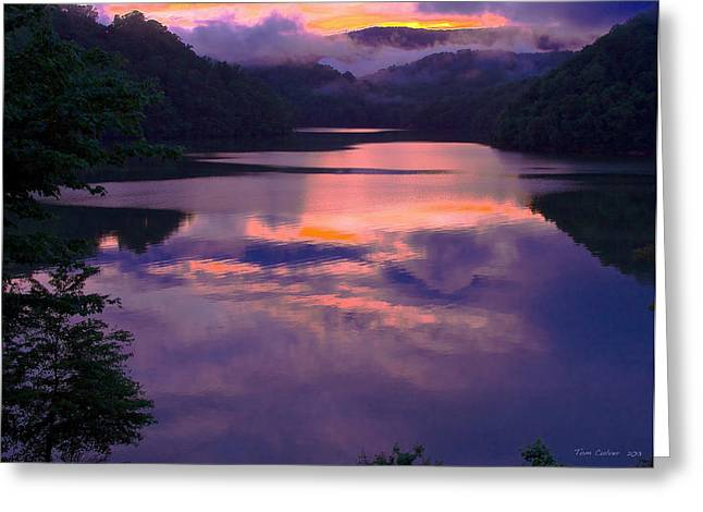 Reflected Sunset Greeting Card