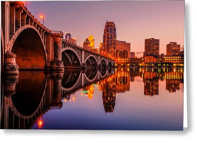 Reflecting Beauty Minneapolis Mn Greeting Card
