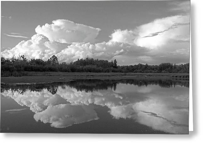 Reflecting Clouds Greeting Card by Gene Cyr