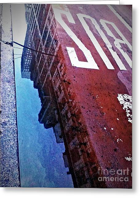 Greeting Card featuring the photograph Reflecting On City Life by James Aiken