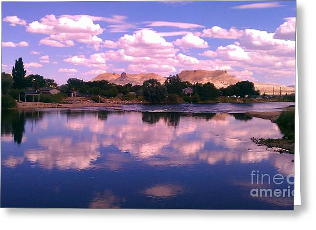 Reflecting On Green River Greeting Card