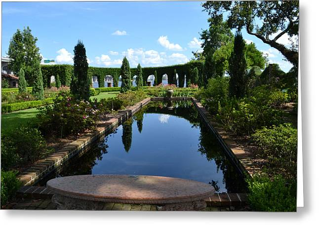Reflecting Pond Landscape Greeting Card by Victoria Clark