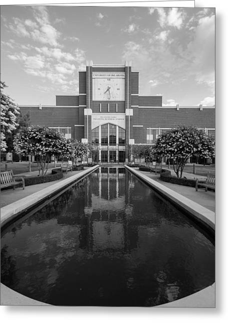 Reflecting Pond Outside Of Oklahoma Memorial Stadium Greeting Card