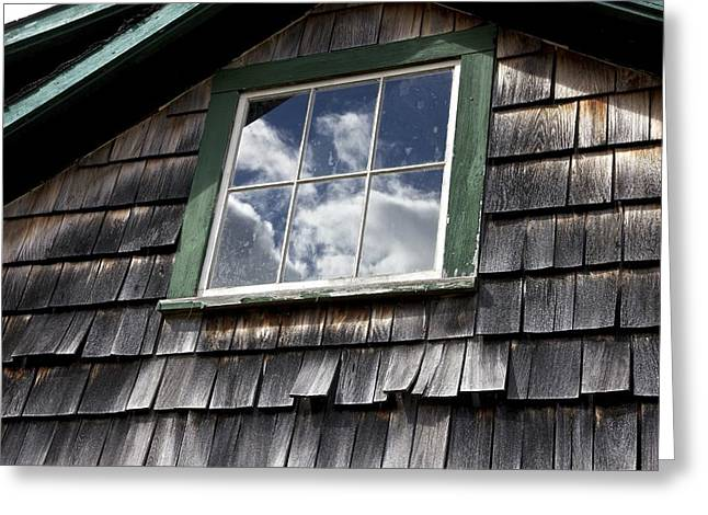 Reflecting Sky Greeting Card by Jim Gillen