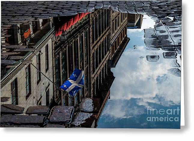 Reflecting Upon Quebec Greeting Card by Amy Fearn