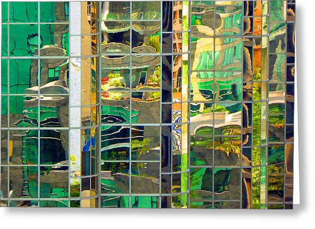 Reflection 5 Greeting Card by Laurie Tsemak