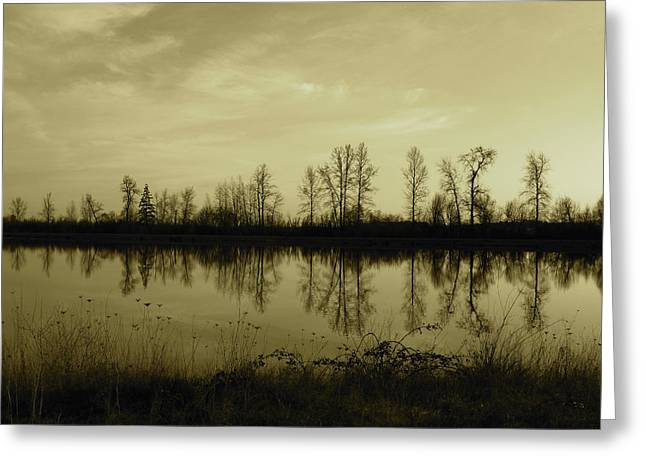 Reflection - Ankeny Wildlife Refuge Greeting Card