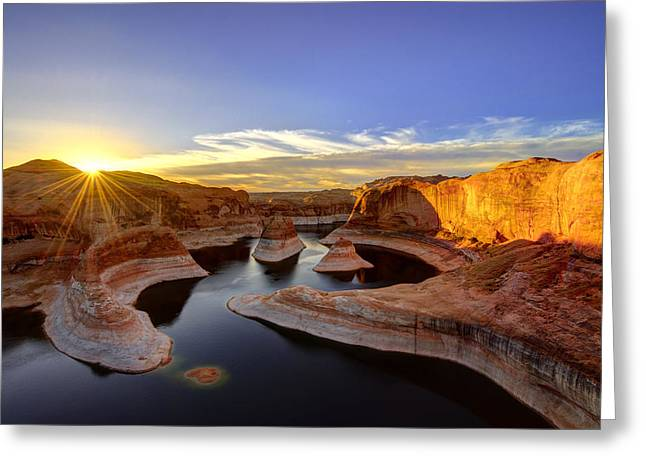 Reflection Canyon Sunrise Greeting Card
