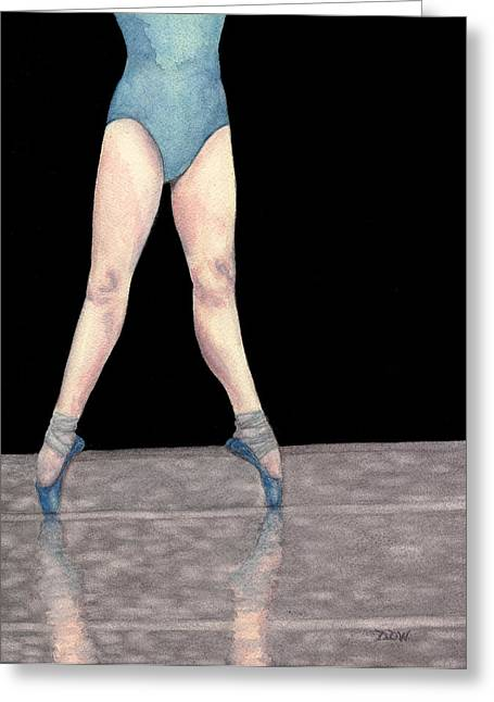 Reflection En Pointe Greeting Card by Dee Dee  Whittle