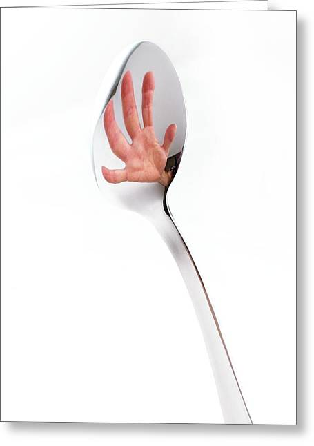Reflection In A Spoon Greeting Card