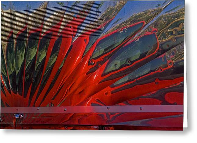 Reflection In A Taco Truck Greeting Card by Scott Campbell