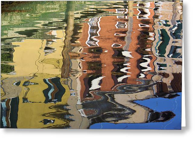 Reflection In A Venician Canal Greeting Card