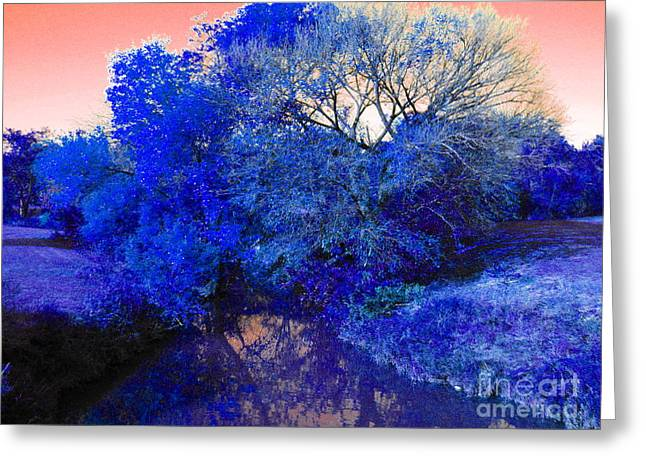 Reflection In Blue Greeting Card