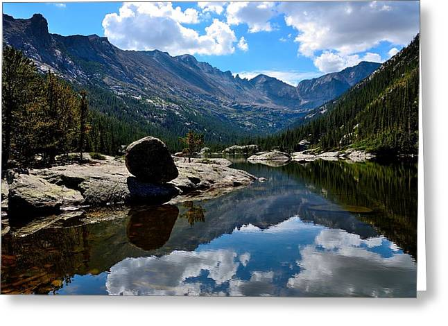 Reflection In Mills Lake Greeting Card