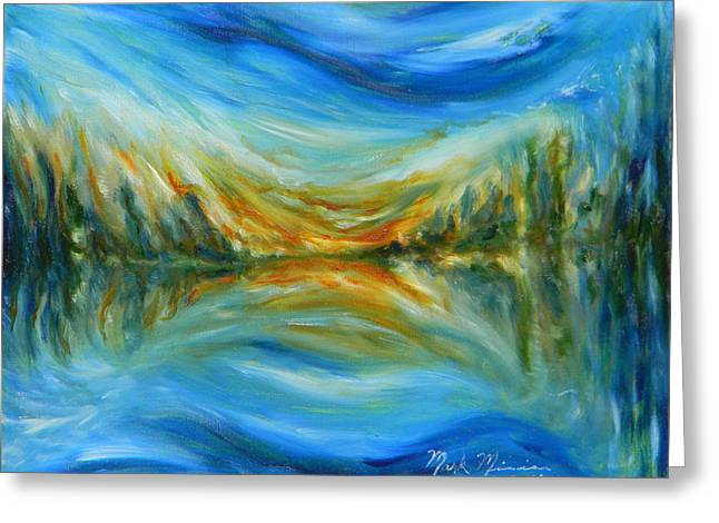 Reflection Greeting Card by Mark Minier