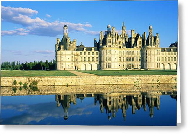 Reflection Of A Castle On Water Greeting Card by Panoramic Images