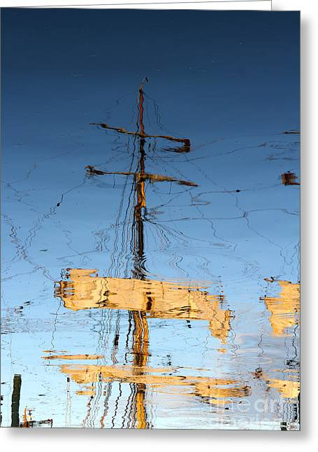 Reflection Of A Golden Age Greeting Card by Butch Lombardi