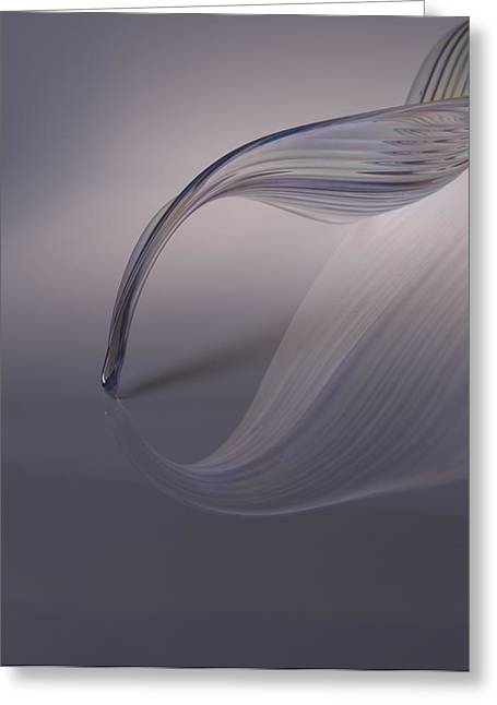 Reflection Of A Piece Of Blown Glass Greeting Card by James Tarver