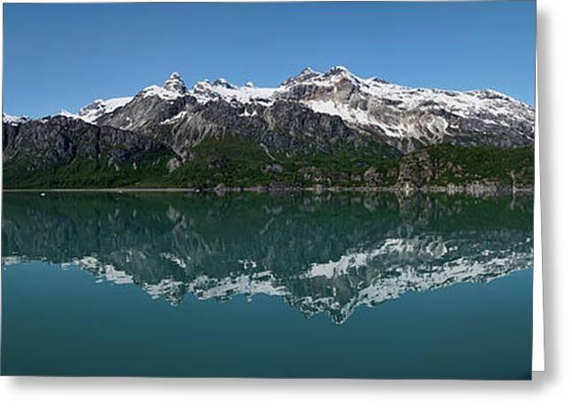 Reflection Of Alaska Range In Lake Greeting Card