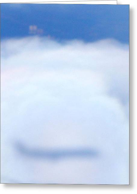 Greeting Card featuring the photograph Reflection Of An Airplane by Kristine Bogdanovich